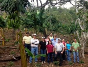 Visiting members of Cosagual on their farm
