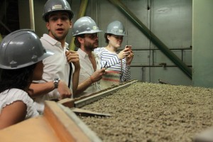 Stanford and Sustainable Harvest Staff assess current parchment drying facilities